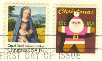 1979 Christmas Stamp Set of 2 FDI First Day Issue