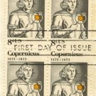 Nicolaus Copernicus 8 cent Stamp Block of 4 FDI SC 1488 First Day Issue
