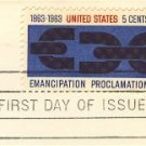 Emancipation Proclamation 5 cent Stamp FDI SC 1233 First Day Issue