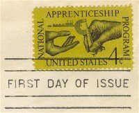 National Apprenticeship Program 4 cent Stamp FDI SC 1201 First Day Issue