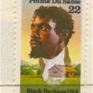 Portrait Jean Baptiste Point Du Sable 22 cent Stamp Black Heritage Issue FDI SC 2249 First Day Issue