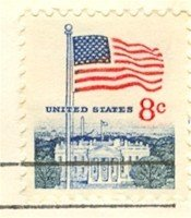 Flag Over White House 8 cent Stamp FDI SC 1338F First Day Issue