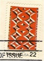 Navajo Blankets Vertical Diamond Pattern 22 cent stamp American Folk Art Issue FDI SC 2236