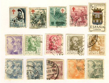 Spain Packet No 2495 with 15 stamps