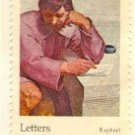 Michelangelo by Raphael 10 cent Stamp Letters Mingle Souls by Donne FDI SC 1530 First Day Issue