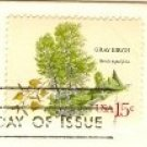 Gray Birch Tree 15 cent Stamp American Trees Issue FDI SC 1767 First Day Issue