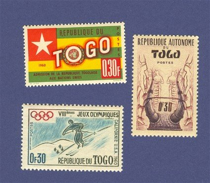 Togo 3 stamps Packet No 1491