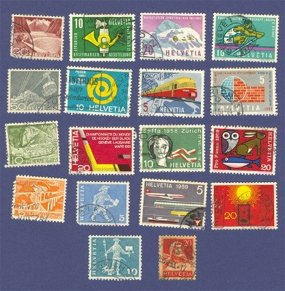 Switzerland 18 Stamps