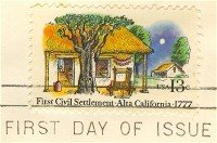 First Civil Settlement California 13 cent Stamp FDI SC 1725 First Day Issue