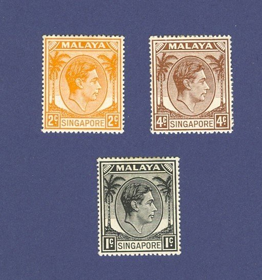 Singapore 3 stamps