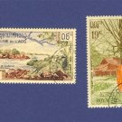French Colony of Laos 2 stamps