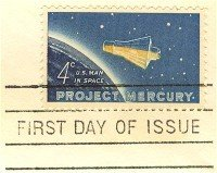 Project Mercury 4 cent Stamp FDI SC 1193 First Day Issue