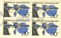 Mariner 10 Venus Mercury 10 cent Stamp Block of 4 FDI SC 1557 First Day Issue
