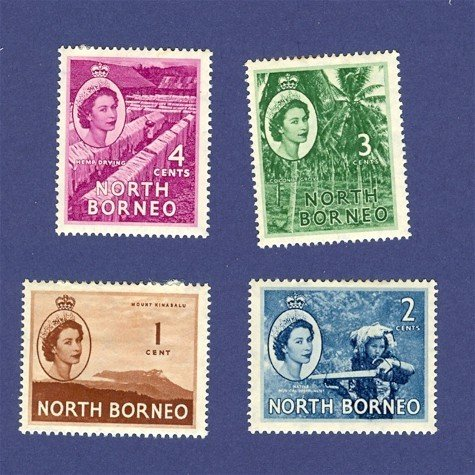 North Borneo 4 stamps