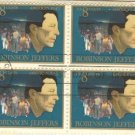 Robinson Jeffers 8 cent Stamp Block 4 American Arts Issue FDI SC 1485 First Day Issue