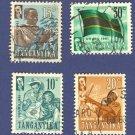 Tanganyika 4 stamps