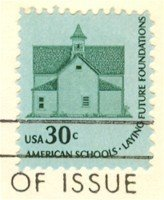 One Room Schoolhouse 30 cent Stamp FDI SC 1606 First Day Issue