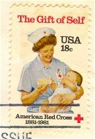 American Red Cross 18 cent Stamp FDI SC 1910 First Day Issue