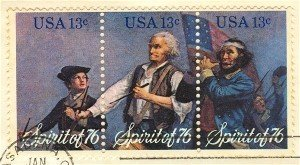 Spirit of 76 American Bicentennial Complete Set of 3 Block of 3 FDI SC 1631a First Day Issue