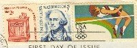 High Jumper 13 cent Stamp Summer Olympics FDI SC 2049 First Day Issue