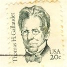 Thomas H Gallaudet 20 cent Stamp Great Americans Issue FDI SC 1861 First Day Issue