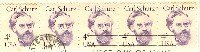 Carl Schurz 4 cent Stamp Strip of 5 Great Americans Issue FDI SC 1847 First Day Issue