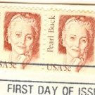 Pearl Buck 5 cent Stamp Strip 4 Great Americans Issue FDI SC 1848 First Day Issue