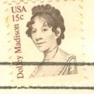 Dolley Madison 15 cent Stamp FDI SC 1822 First Day Issue