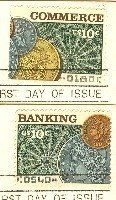 Banking and Commerce Issue Set of 2 Stamps Complete Set FDI First Day Issue