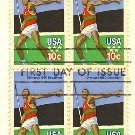 Olympic Javelin Thrower Decathlon Olympics 10 cent Stamp FDI SC 1790 First Day Issue