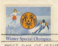 Winter Special Olympics 22 cent Stamp FDI SC 2142 First Day Issue