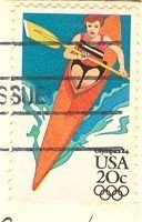 1984 Olympics Kayak 20 cent Stamp FDI SC 2085 First Day Issue