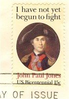 John Paul Jones 15 cent Stamp Charles Wilson Peale American Bicentennial Issue FDI SC 1789 First Day