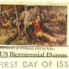 Herkimer at Oriskany Frederick Jahn 13 cent American Bicentennial Issue FDI SC 1722 First Day Issue