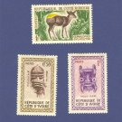 Ivory Coast 3 stamps