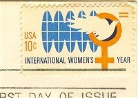 International Womens Year 10 cent Stamp FDI SC 1571 First Day Issue