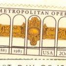 Metropolitan Opera 20 cent Stamp FDI SC 2054 First Day Issue