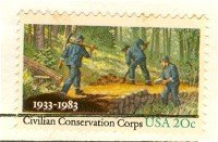 Civilian Conservation Corp 20 cent Stamp FDI SC 2037 First Day Issue