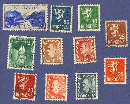 Norway Packet No 2451 with 11 stamps