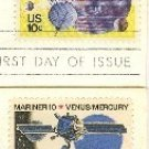 Space Issue 10 cent Stamps Complete Set FDI First Day Issue