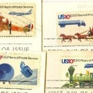 Postal Bicentennial Issue Complete Set 4 stamps FDI First Day Issue