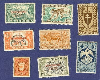 Cameroon French Colony  8 stamps