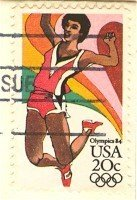 1984 Olympics Long Jump 20 cent Stamp FDI SC 2083 First Day Issue
