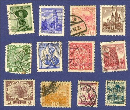 Austria 12 stamps