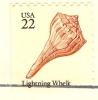 Lighting Whelk 22 cent Stamp Seashells Booklet Issue FDI SC 2121 First Day Issue