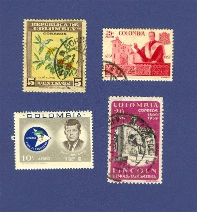 Columbia 4 stamps