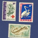 Congo 3 stamps