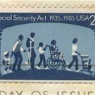 Social Security 50th Anniversary 22 cent Stamp FDI SC 2153 First Day Issue