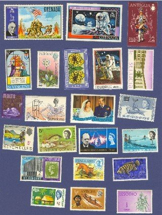 British Colonies Packet No 1394 with 22 stamps Different Colonies