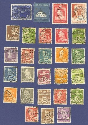 Denmark Packet No 1381 with  27 stamps